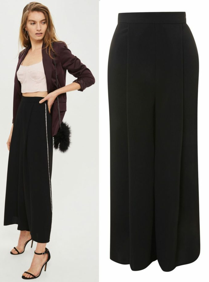 Originale idée tailleur pantalon femme chic pour mariage, robe pour les fetes de fin d année