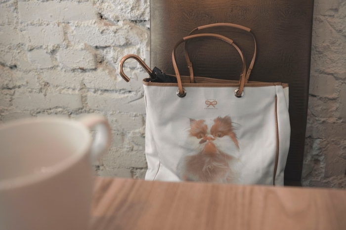 idée cadeau anniversaire maman, quel cadeau pour fans des animaux, modèle de sac cabas avec image chat
