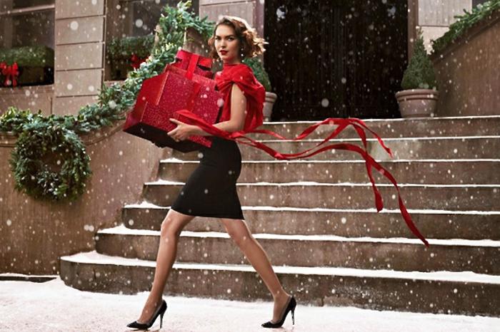 Tenue de noel femme, robe nouvel an robe chic de soirée festive sans efforts, chemise rouge et jupe mi longue