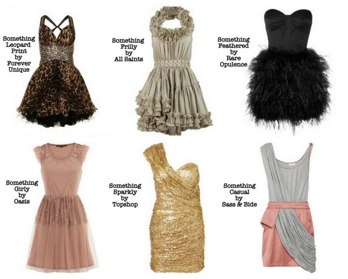 tenues de noel pour filles, robes coquettes, robe motif tigre, robe aux volants, robe bustier noire, robe rose cendré, robe couleur d'or, robe bicolore