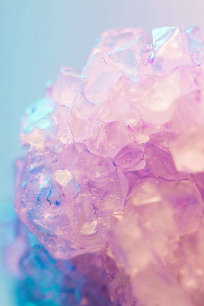 Les plus beaux fonds d écran, fond ecran ordinateur photographie professionnelle cristal rose sur fond bleu
