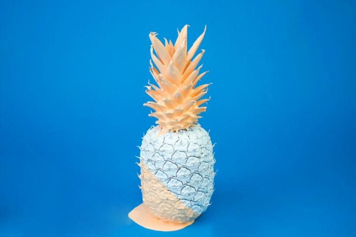 Changer son fond d écran ado, fond ecran ordinateur stylee belle photo ananas blanche avec nuances oranges