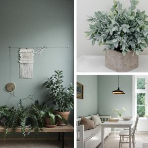 Peinture vert de gris - une couleur tendance pour sublimer son intérieur en 2019