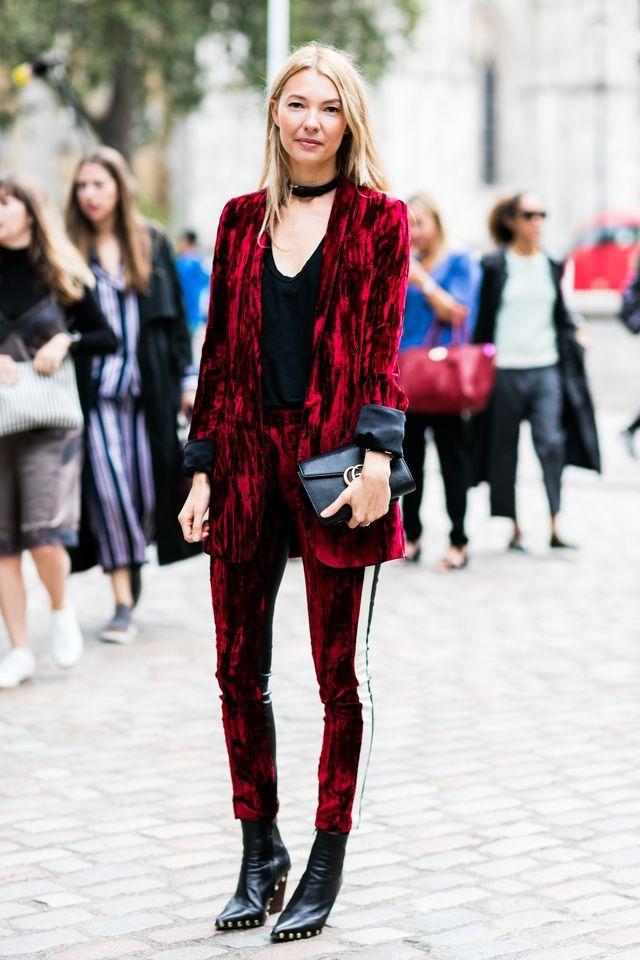 Robe pour noel, tenue de noël pour femme tenue pour femme jolie idée tailleur en velours