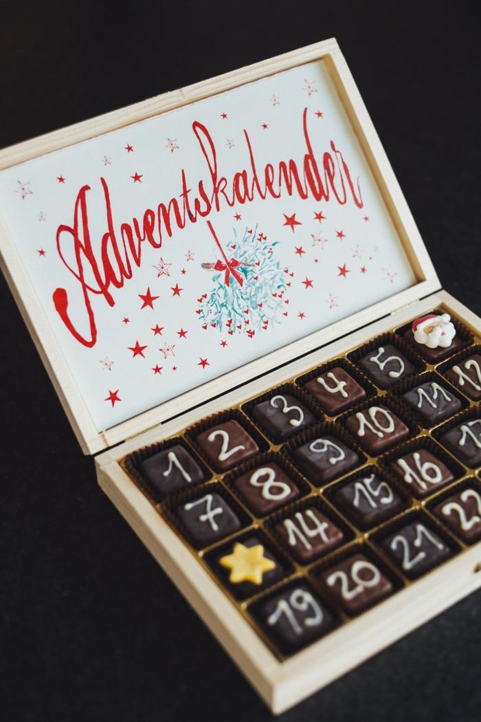 Bonbons pour le calendrier de l'advent, classique idée que mettre dans un calendrier de l'advent
