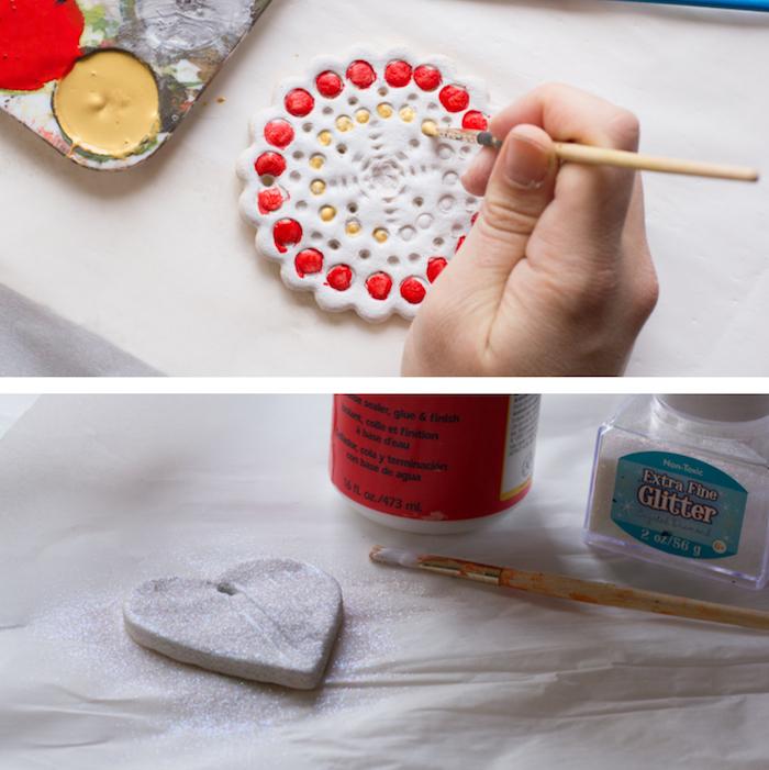 recette comment fabriquer des objets deco en pate a sel pour noel facilement avec les enfants