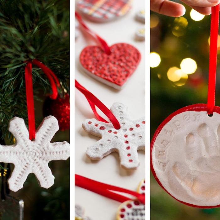 modeles ornements pour sapin et decoration de noel en pate à sel facile diy fait maison pour enfants