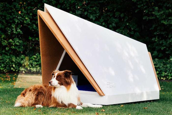 présentation d une nouvelle invention de Ford niche pour chien anti bruit, annuler le bruit du feu d artifice, calmant pour chien