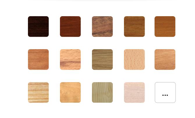 palette des essences de bois à choisir pour composer son meuble sur mesure