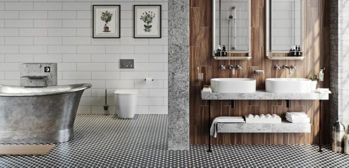 ▷ 1001 + idées pour la salle de bain industrielle magnifique