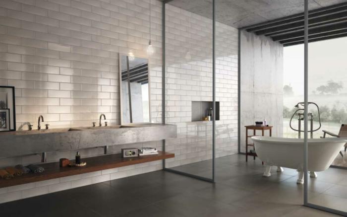 Quel meuble salle de bain vintage choisir, salle de bain industrielle, nordique inspiration pour la salle de bains industriel style