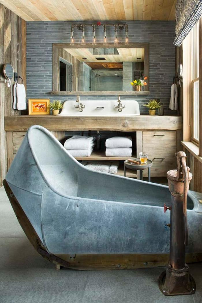 Verriere salle de bain meuble salle de bain vintage photo inspiratrice decoration originales idées pour la déco originale mur