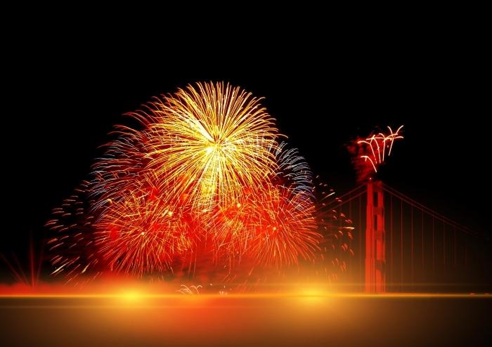 photographie nuit, photo feux d'artifice, idée photo célébration 1er janvier, photographie célébration premier jour année 2019