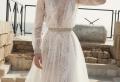 La splendeur de la robe de mariée avec manche longue
