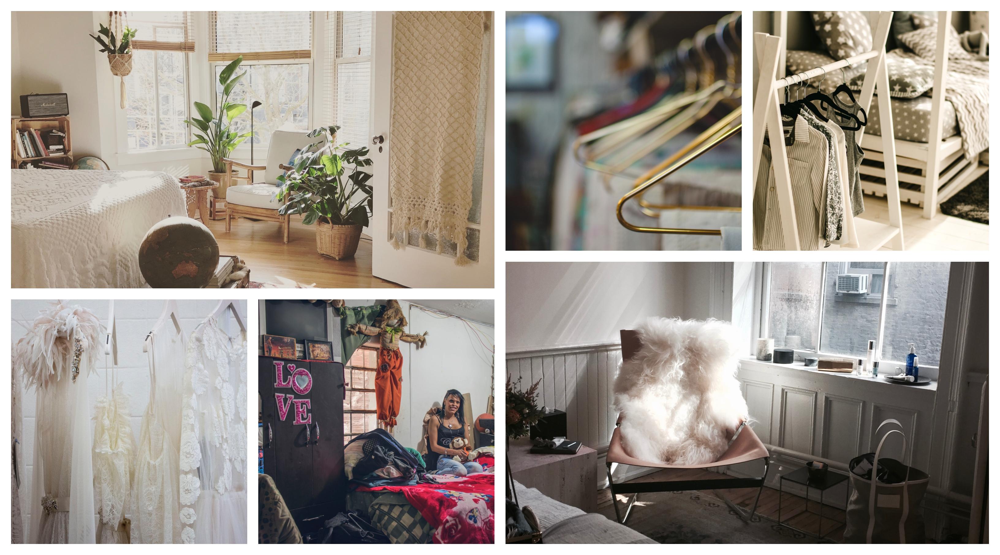 Penderie dressing, meuble rangement chambre exposition vetements, collage avec les options de pendation