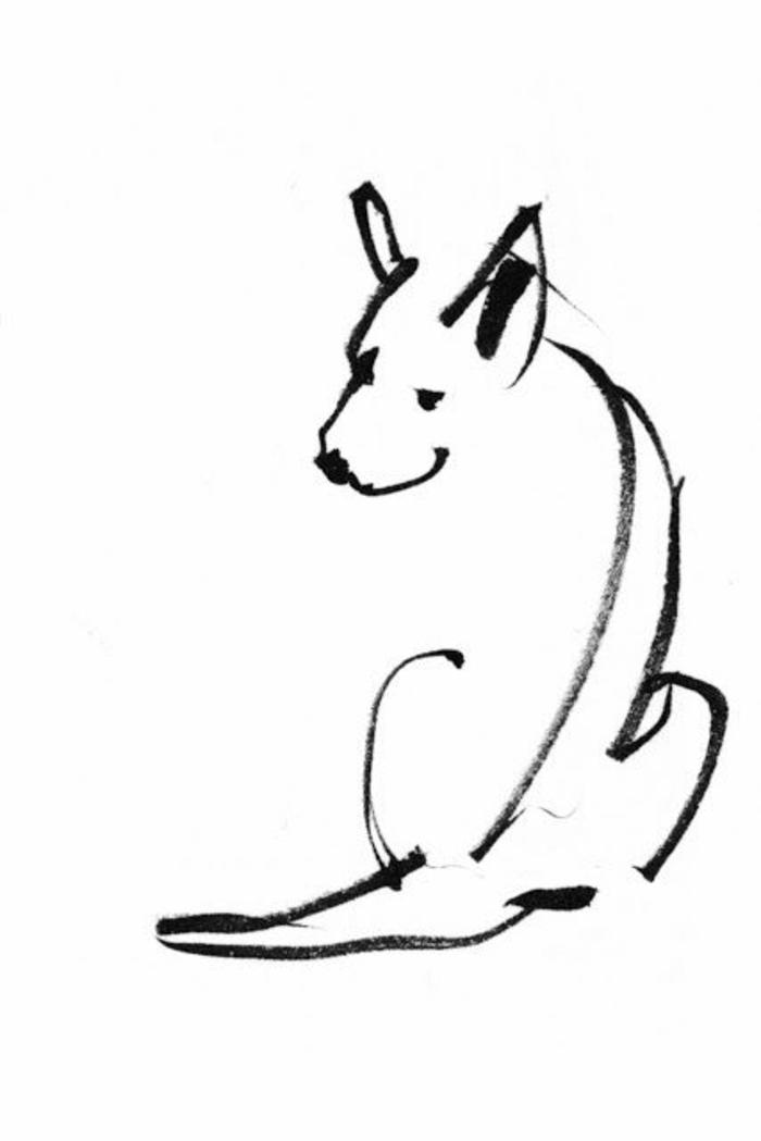 Dessin facile a reproduire comment apprendre à dessiner image a dessiner, chien dessin simple