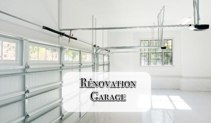 peinture murale pour le garage, projet transformation du garage, exemple comment aménager son garage avec peinture blanche et plancher en carreaux blancs