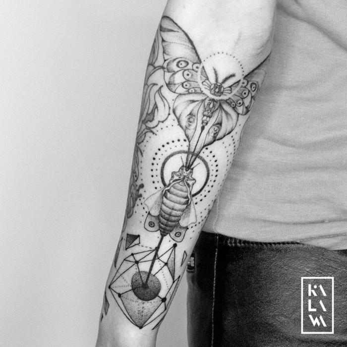 Style de tatouage les plus beaux tatouages du monde éphémère ou permanente manche de papillon qui se transforme