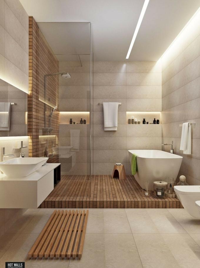 Salle de bain noir et bois image salle de bain simple inspiration salle des bains bois sur le sol cool idée baignoire comment la decorer