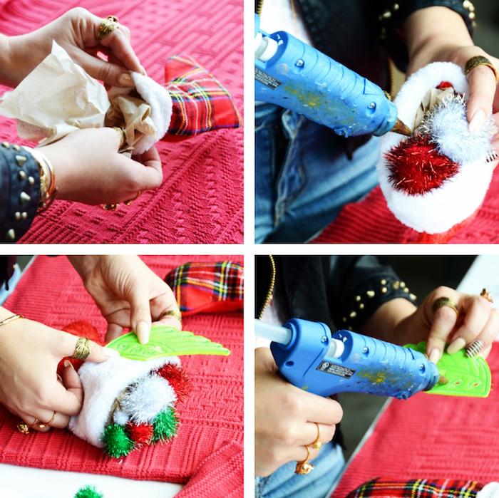 images tutoriel pour fabriquer un pull moche fait maison pour tenue de noel moche diy