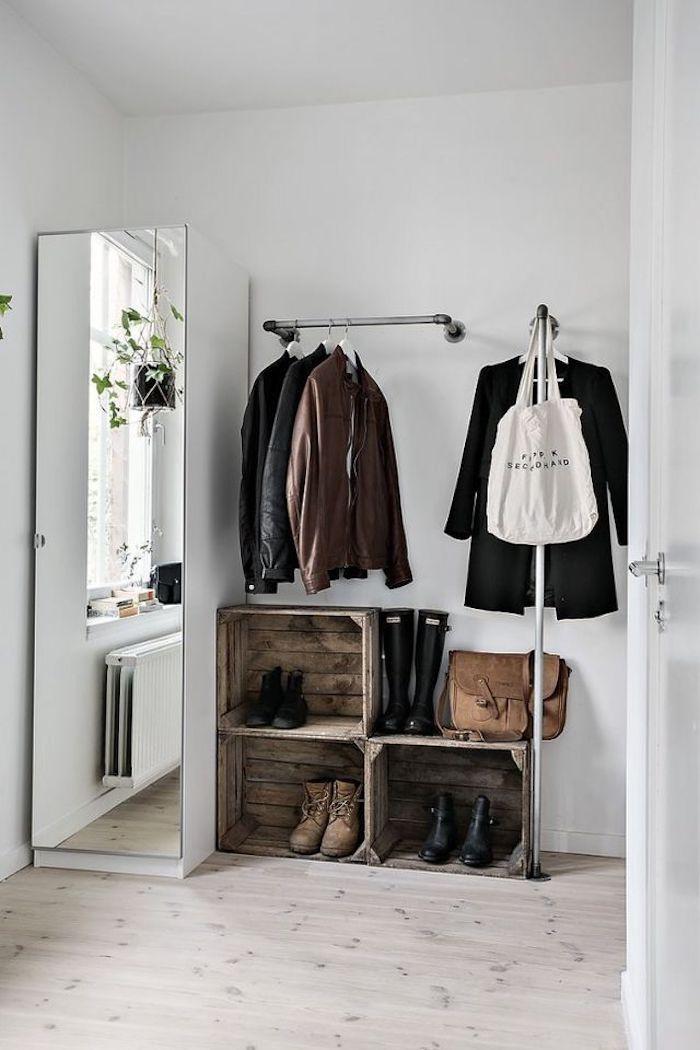1001 id es de dressing ouvert pour s 39 inspirer r aliser son projet. Black Bedroom Furniture Sets. Home Design Ideas