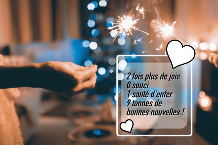 idée message court nouvel an, exemple photographie fêtes fin d'année célébration, carte numérique souhaits 2019