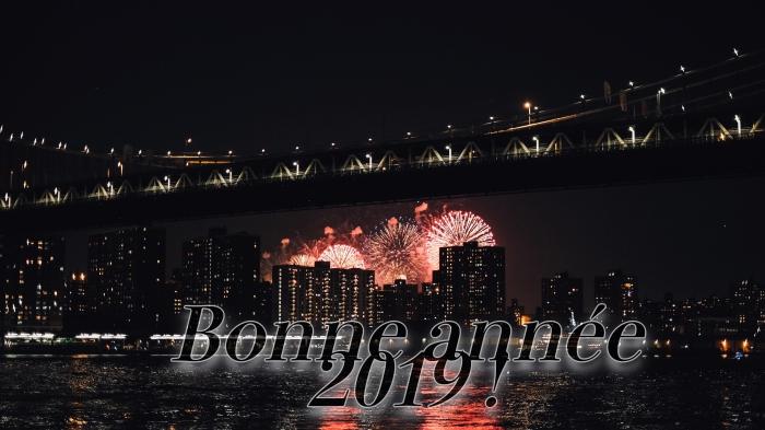photographie feux d'artifice, image bonne année 2019 à télécharger gratuitement, fond d'écran fête de nouvel an