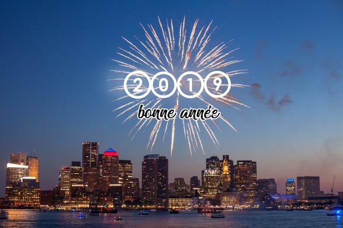 fond d'écran nouvel an original 2019, photo avec feux d'artifice, idée quel wallpaper pc pour célébrer la nouvelle année
