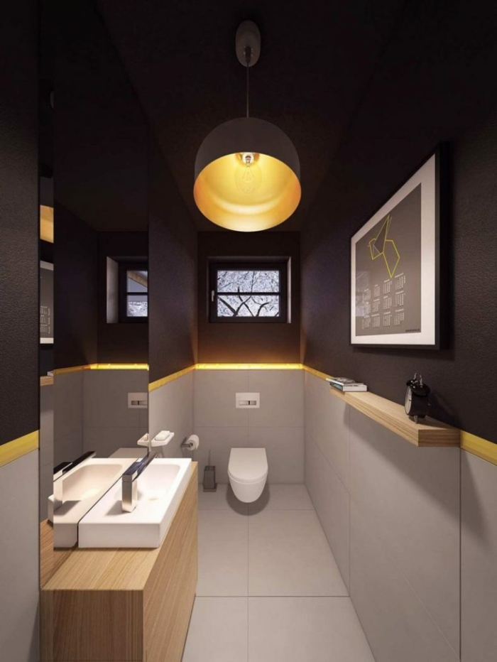 Le meuble salle de bain sur pied, décoration salle de bain style scandinave, cool idée pour personnaliser la salle