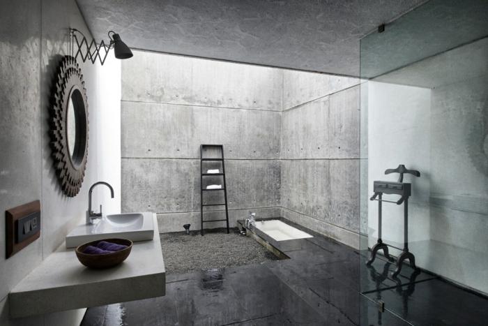 Originale idée salle de bain industrielle, salle de bain vintage, comment aménager une salle de bain belle décoration industriel