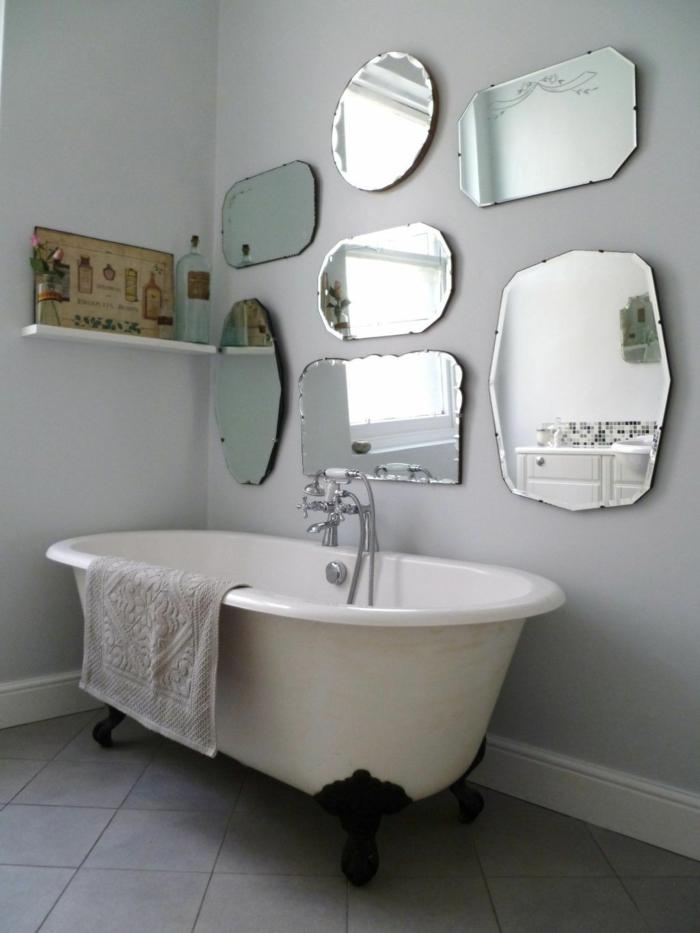 Pinterest salle de bain, idée déco salle de bain industrielle, originale stylée salle meuble insustriel chic miroir