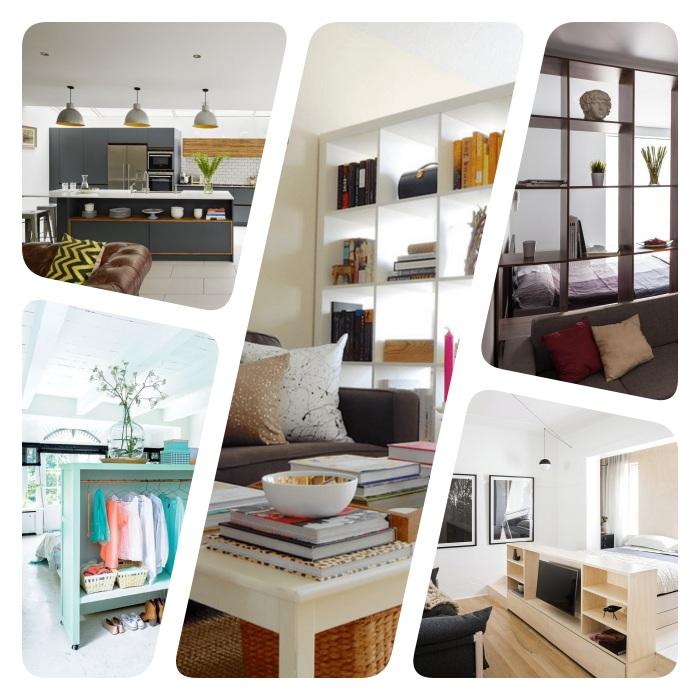 ▷ 1001 + idées gain de place pour une séparation de pièce sans perçage