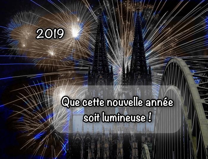 belles images bonne année 2019, photographie spectacle de feux d'artifice, photo célébration nouvel an 2019