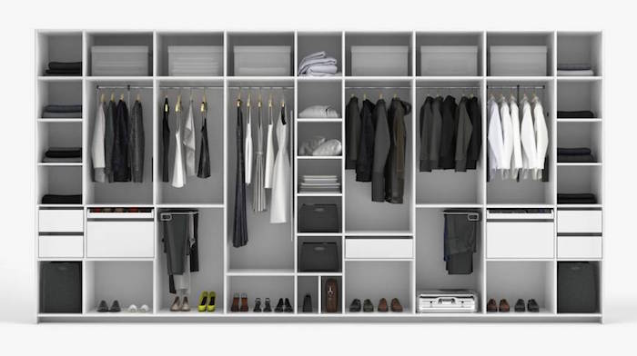 photo de grand dressing fait sur mesure selon les contraintes et dimensions du client