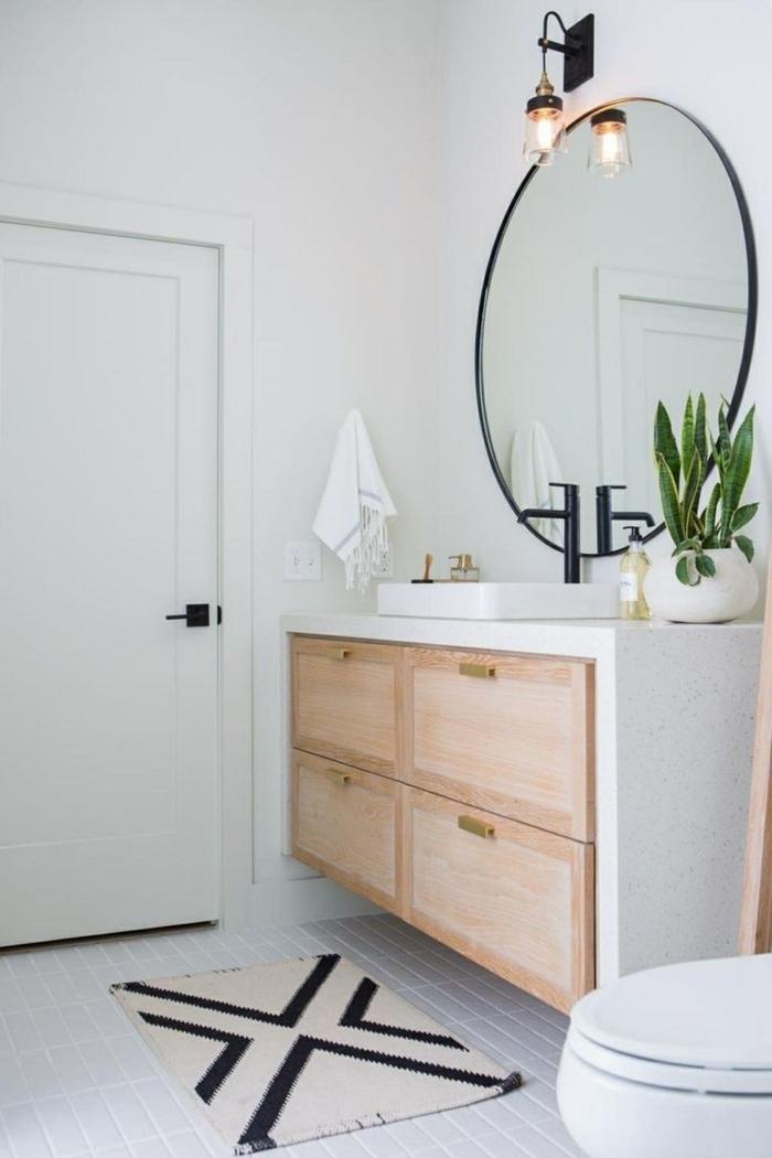 Meuble salle de bain industriel originale idée de la deco meuble salle de bain sur pied