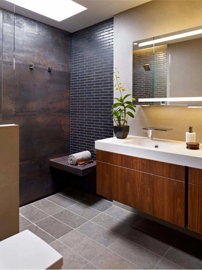 Belle salle de bain industrielle, réussir le style industriel, comment meubler une salle de bains contemporaine