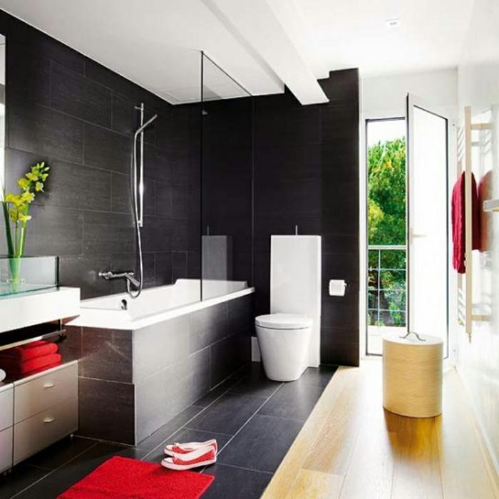Moderne style industriel, salle de bain industrielle, belle decoration, baignoire vintage style original