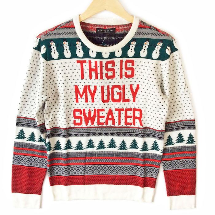 pullover moche kitsch humour pour fetes voici mon pull moche de noël