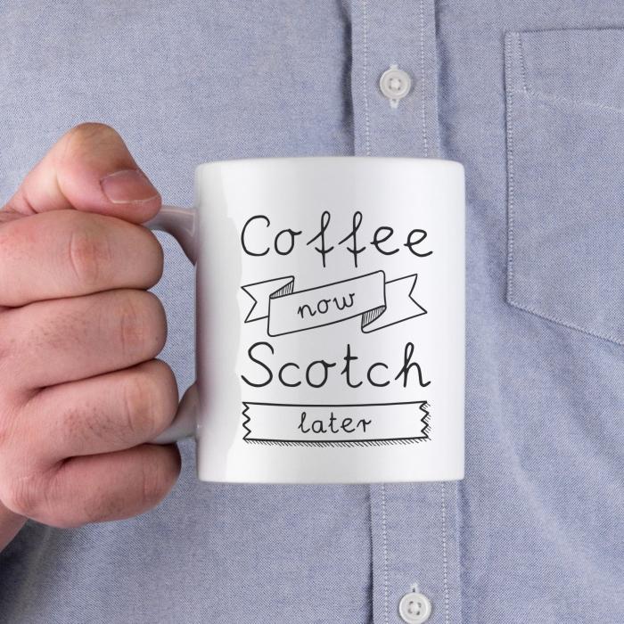 idée de cadeau insolite homme, une tasse de café en céramique avec un drôle de message en joli lettrage