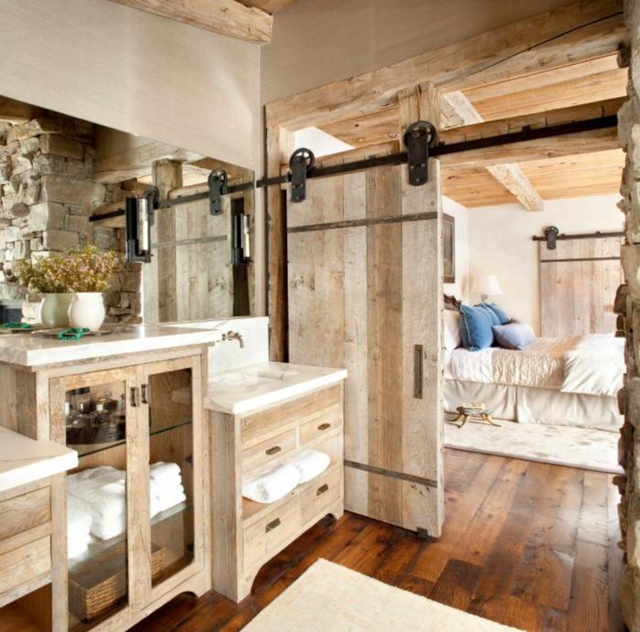 Magnifique idée décoration salle de bain, style industriel idée simple et beau des bains stylées bois