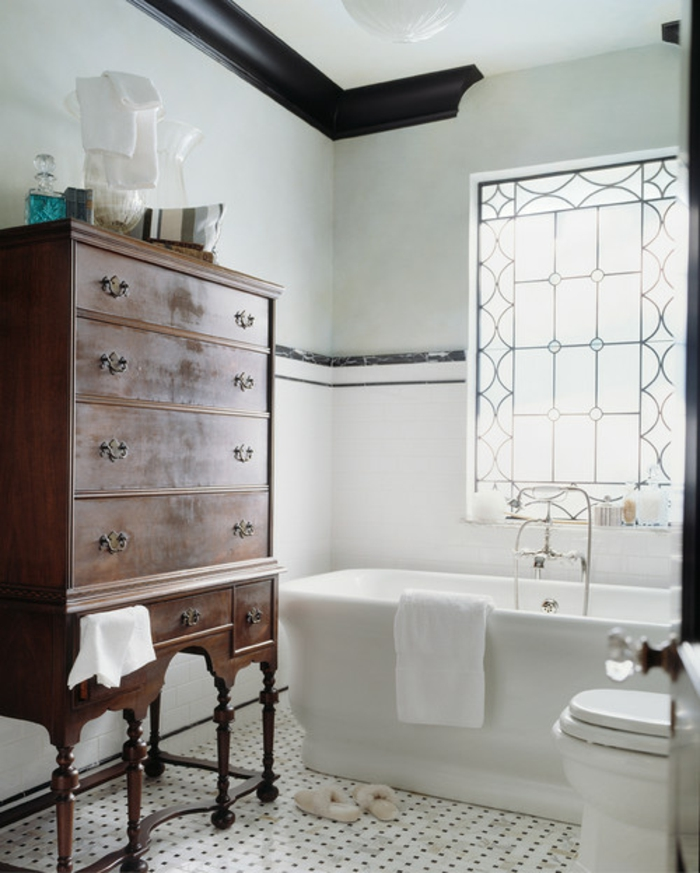Quelle est la meilleure idée de decoration industriel, salle de bain industrielle, cool idée pour la déco stylée cabinet vintage bois