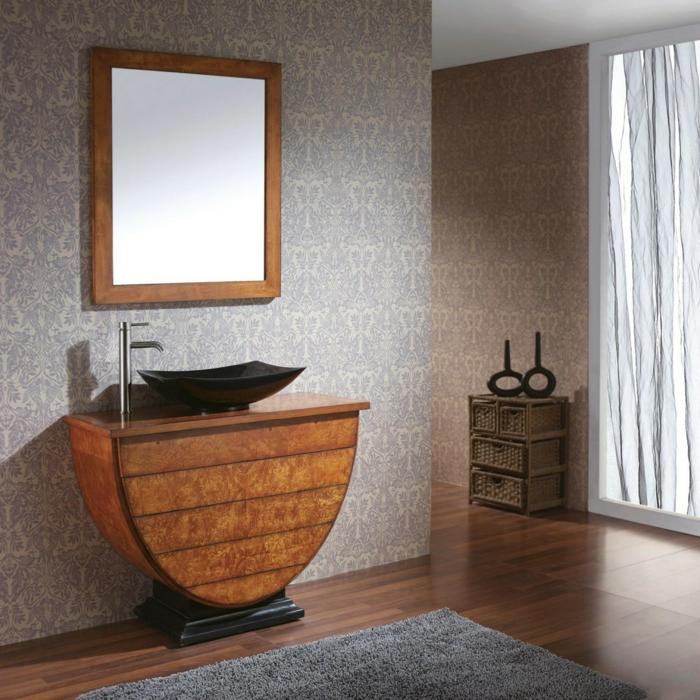 La salle de bain vintage, style industriel, design salle des bains maison rustique ou appartement