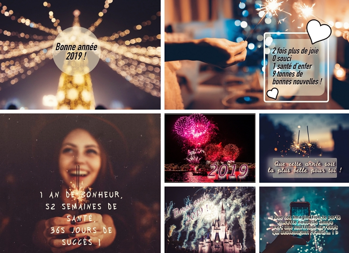 voeux 2019 originaux, carte numérique avec message pour le nouvel an, idée mots doux originaux pour 2019