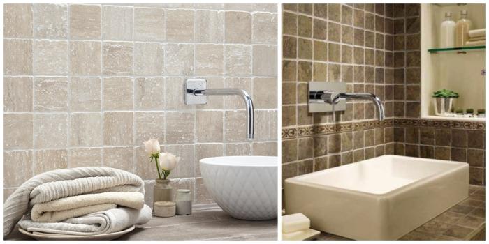carrelage mural salle de bain en pierre naturelle pour une ambiance à la fois authentique et élégante