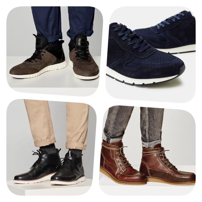 baskets, chaussures de cuir, chaussures montantes de ville pour adopter le style casual chic homme