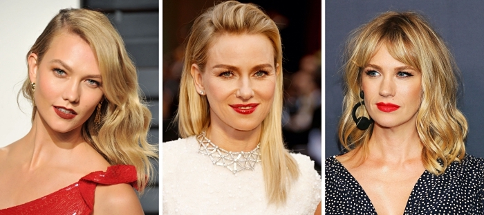 exemple de coloration avec meche blonde, cheveux à effet ombré naturel avec racines châtain et pointes blondes