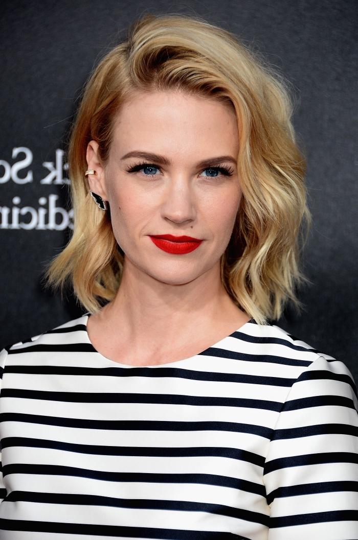 idée coupe de cheveux femme tendance 2018, exemple de coloration naturelle pour cheveux de base châtain avec reflets blond doré