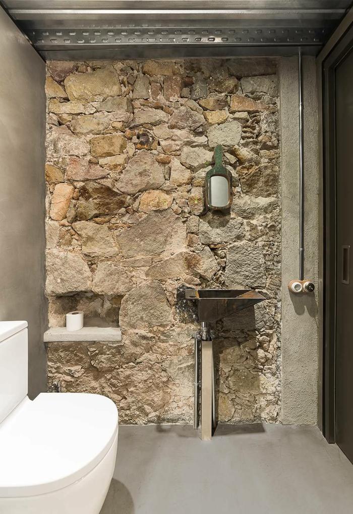 Beau style industriel décoration salle de bain, simple et beau design industriel, inspiration chic moderne