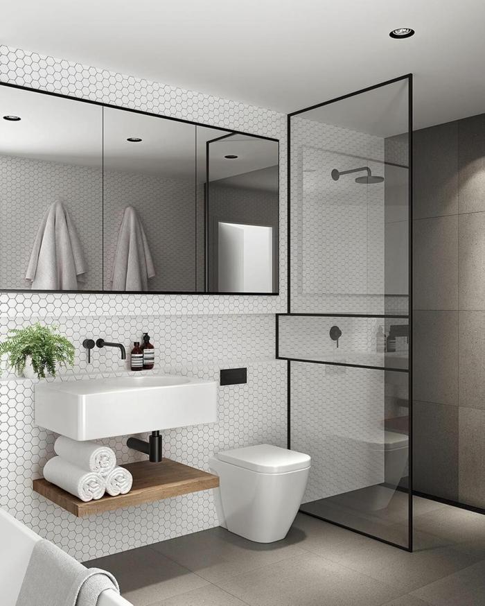 Verriere salle de bain meuble salle de bain vintage photo inspiratrice decoration originales idées pour la déco