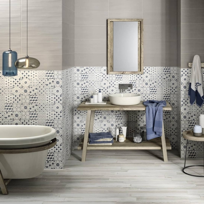1001 id es pour adopter une cr dence salle de bain. Black Bedroom Furniture Sets. Home Design Ideas